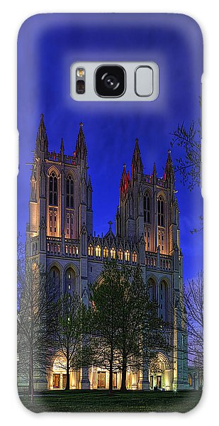 Digital Liquid - Washington National Cathedral After Sunset Galaxy Case