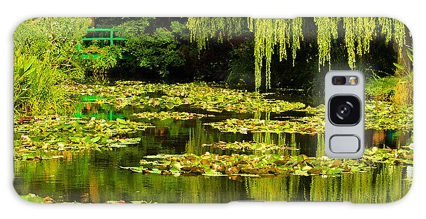 Digital Paining Of Monet's Water Garden  Galaxy Case by MaryJane Armstrong