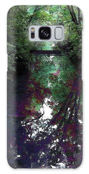 Digital Painting Hidden Woodland Stream 2864 Dp_2 Galaxy Case