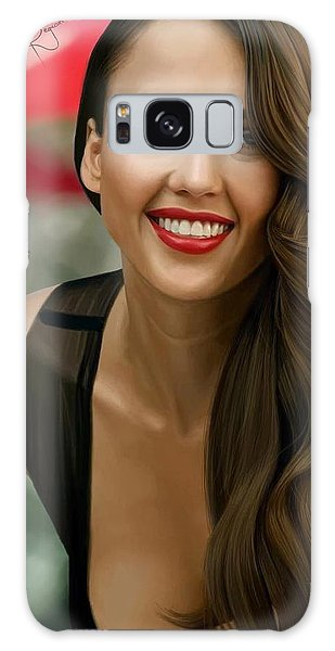 Digital Painting Of Jessica Alba Galaxy Case