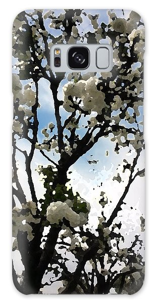 Digital Painting Of Spring Blossoms Galaxy Case
