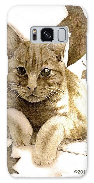 Digitally Enhanced Cat Image Galaxy Case