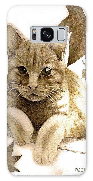 Digitally Enhanced Cat Image Galaxy Case