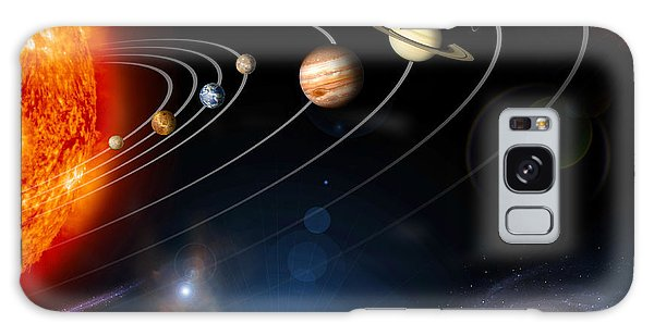 Galaxy Case featuring the digital art Digitally Generated Image Of Our Solar by Stocktrek Images