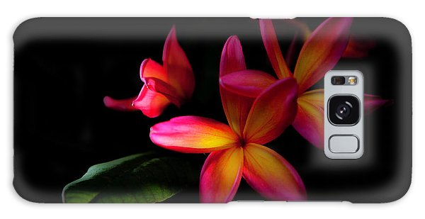 Digitized Sunset Plumerias  Galaxy Case