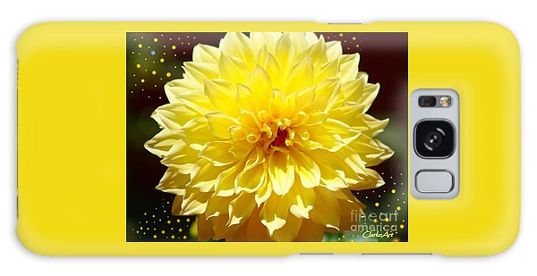 Dinner Plate Dahlia In Starry Sky Galaxy Case