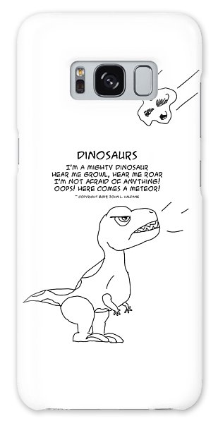 Galaxy Case featuring the drawing Dinosaurs by John Haldane