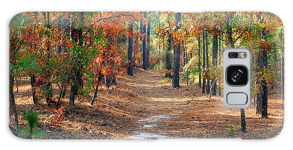 Autumn Scene Dirt Road Galaxy Case