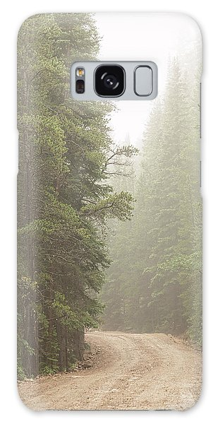 Galaxy Case featuring the photograph Dirt Road Challenge Into The Mist by James BO Insogna