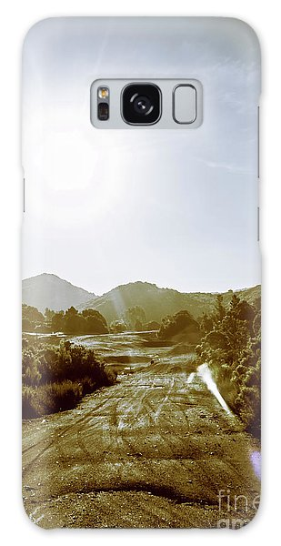 Old Road Galaxy Case - Dirt Roads Of Outback Tasmania by Jorgo Photography - Wall Art Gallery