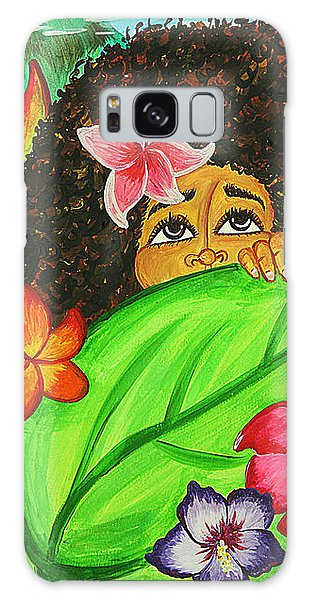Galaxy Case featuring the painting Discovery by Aliya Michelle