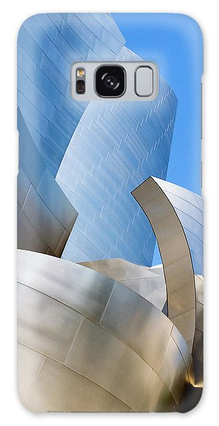 Galaxy Case featuring the photograph Disney Hall In Blue And Silver by Lorraine Devon Wilke