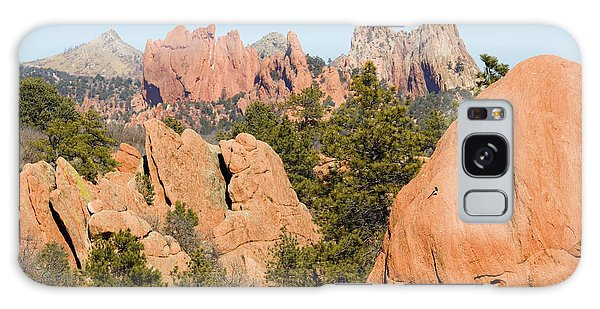 Distant Garden Of The Gods From Red Rock Canyon Galaxy Case