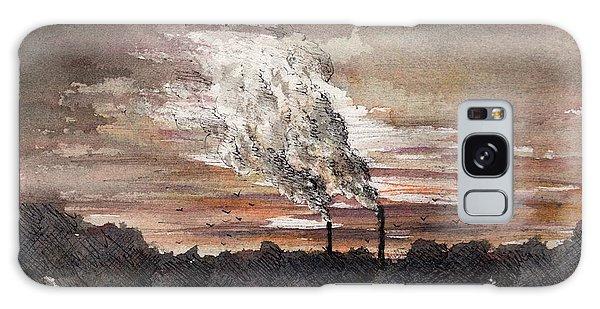 Galaxy Case - Distant Smokestacks by Rachel Christine Nowicki