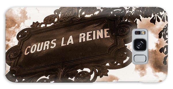 Distressed Parisian Street Sign Galaxy Case