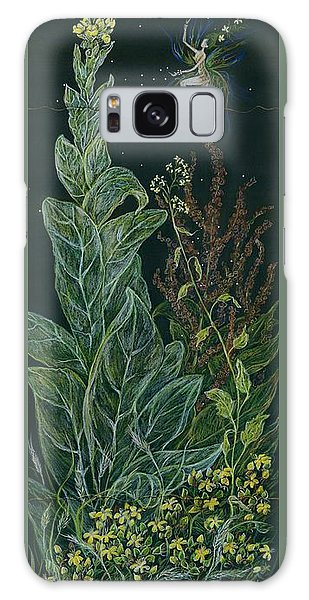 Ditchweed Fairy Mullein Galaxy Case by Dawn Fairies