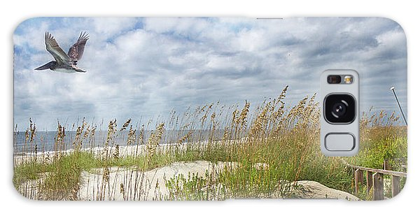 Thought Provoking Galaxy Case - Divine Beach Day Special Crop by Betsy Knapp