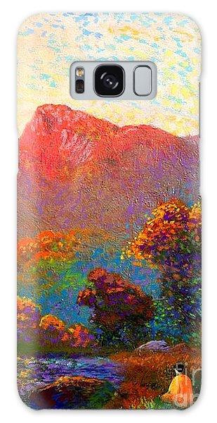 Foliage Galaxy Case -  Buddha Meditation, Divine Light by Jane Small