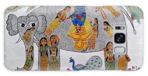 Madhubani Galaxy Case - Divine Quest by Meena Arunachalam