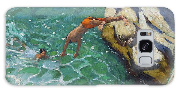 Islands In The Sky Galaxy Case - Diving And Swimming, Skiathos by Andrew Macara