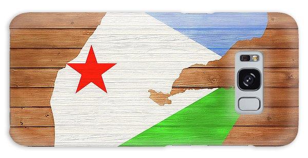 Traveler Galaxy Case - Djibouti Rustic Map On Wood by Dan Sproul