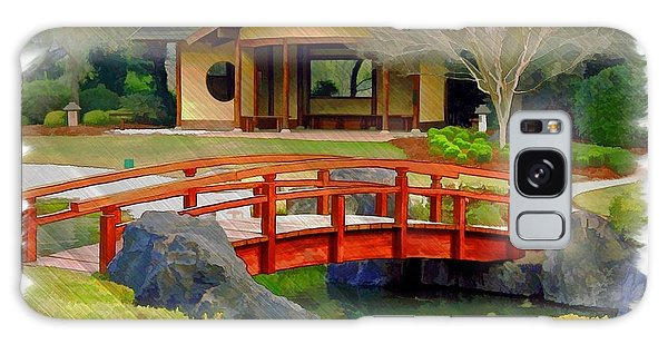 Do-00006 Cypress Bridge And Tea House Galaxy Case by Digital Oil