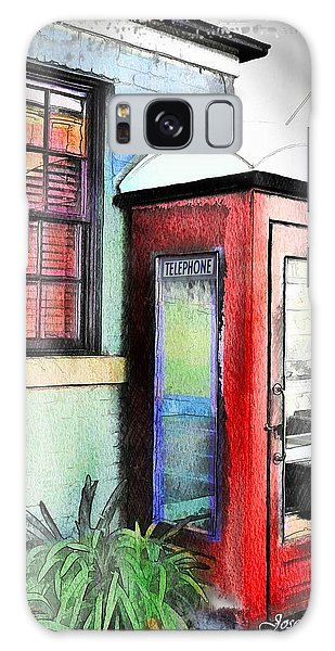 Do-00091 Telephone Booth In Morpeth Galaxy Case by Digital Oil