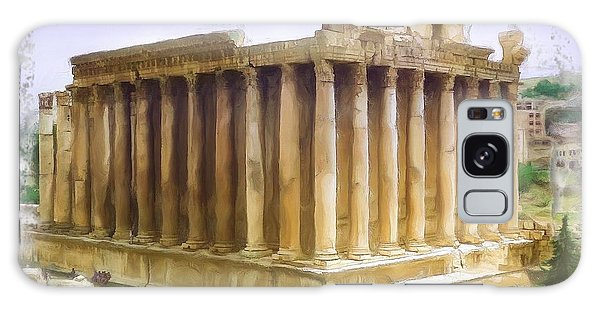Do-00312 Temple Of Bacchus In Baalbeck Galaxy Case by Digital Oil