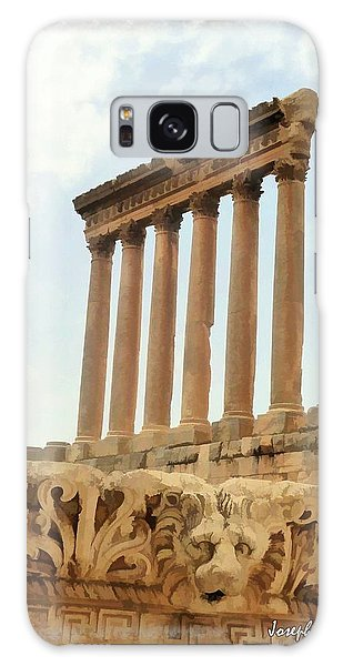 Do-00314 The 6 Corinthian Columns In Baalbeck Galaxy Case by Digital Oil