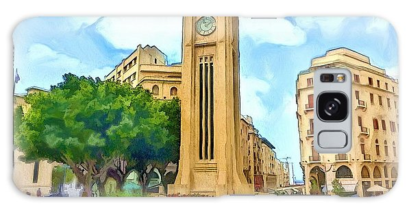 Do-00358 The Clock Tower Galaxy Case by Digital Oil