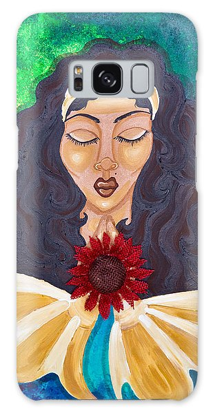 Galaxy Case featuring the painting Do No Evil by Aliya Michelle