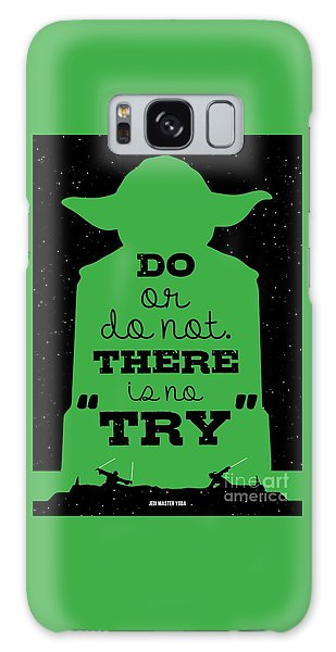 Do Or Do Not There Is No Try. - Yoda Movie Minimalist Quotes Poster Galaxy Case