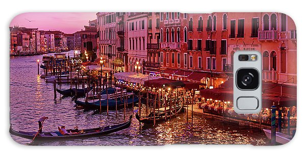 A Cityscape With Vintage Buildings And Gondola - From The Rialto In Venice, Italy Galaxy Case