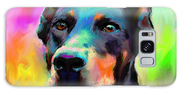 Doberman Pincher Dog Portrait Galaxy Case
