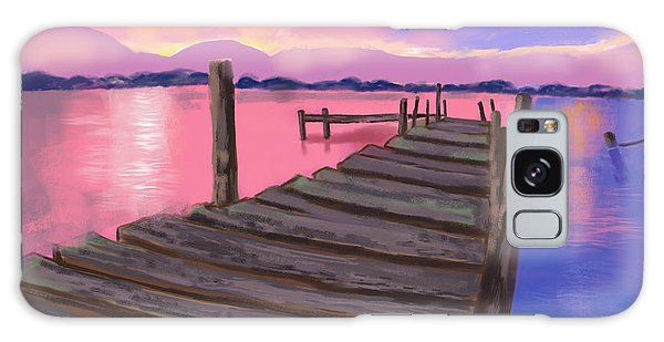 Dock At Sunset Galaxy Case by Diana Riukas