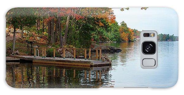 Dock On Lake In Fall Galaxy Case