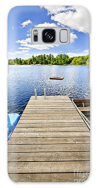 Cottage Galaxy Case - Dock On Lake In Summer Cottage Country by Elena Elisseeva