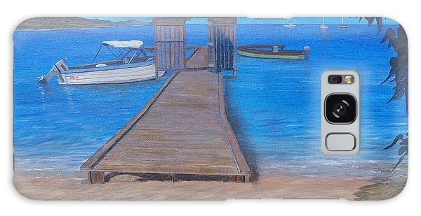 Dock On The Beach Galaxy Case
