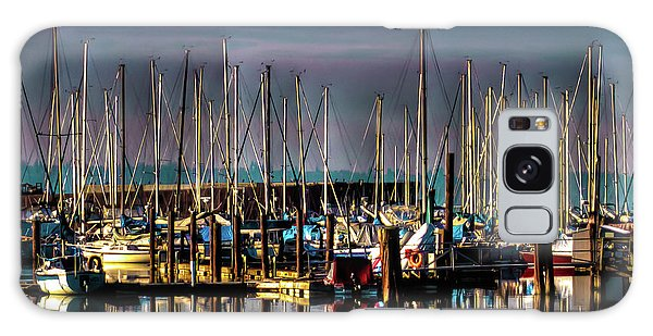 Docked Sailboats Galaxy Case by David Patterson