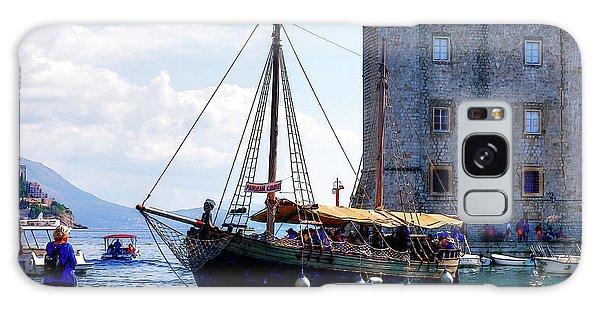 Docking In Dubrovnik Harbour Galaxy Case