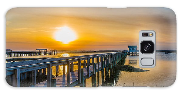 Docks At Sunset I Galaxy Case by Steven Ainsworth