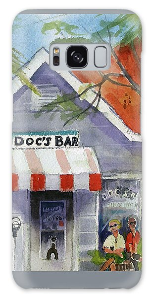 Docs Bar Tybee Island Galaxy Case by Gertrude Palmer