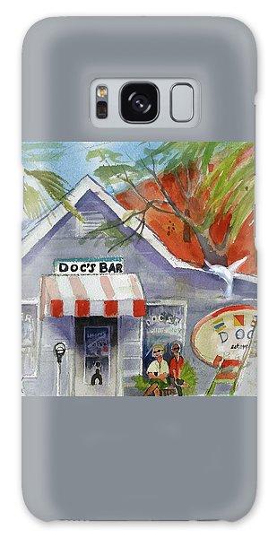 Docs Bar Tybee Island Galaxy Case by Gertrude Palmer