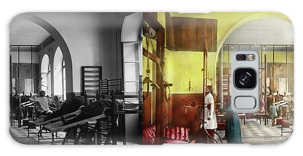 Galaxy Case featuring the photograph Doctor - Physical Therapist - Welcome To The A Traction 1918 - Side By Side by Mike Savad