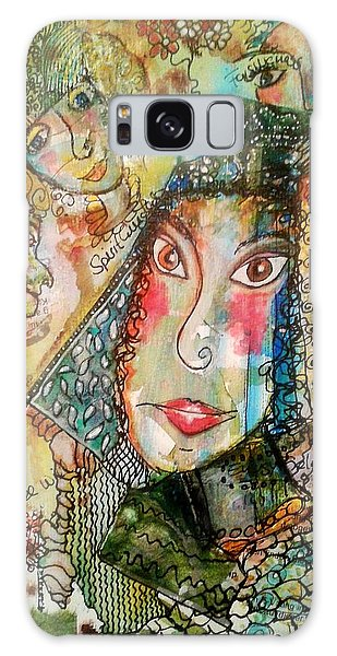 Doe Eyed Girl And Her Spirit Guides Galaxy Case