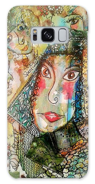Doe Eyed Girl And Her Spirit Guides Galaxy Case by Mimulux patricia no No