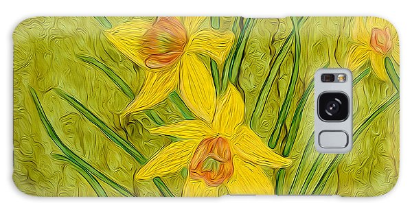 Daffodils Too Galaxy Case