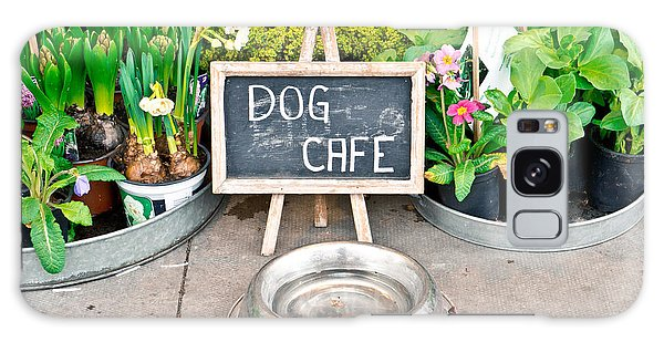 Street Cafe Galaxy Case - Dog Cafe by Tom Gowanlock