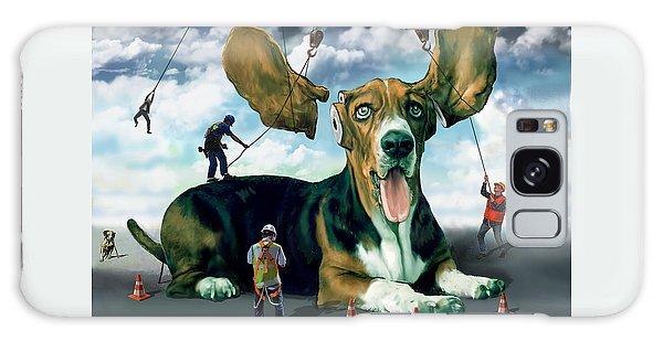 Dog Construction Galaxy Case