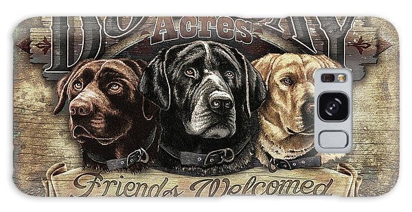 Chocolate Lab Galaxy Case - Dog Day Acres Sign by JQ Licensing